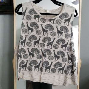 Muscle tank with animal design